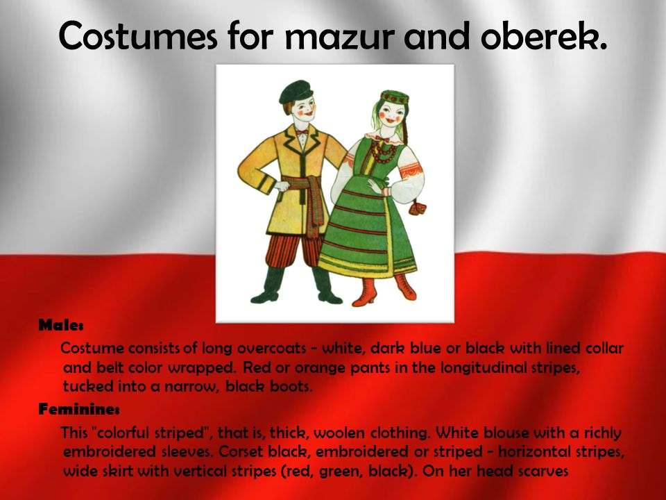 Costumes for mazur and oberek.