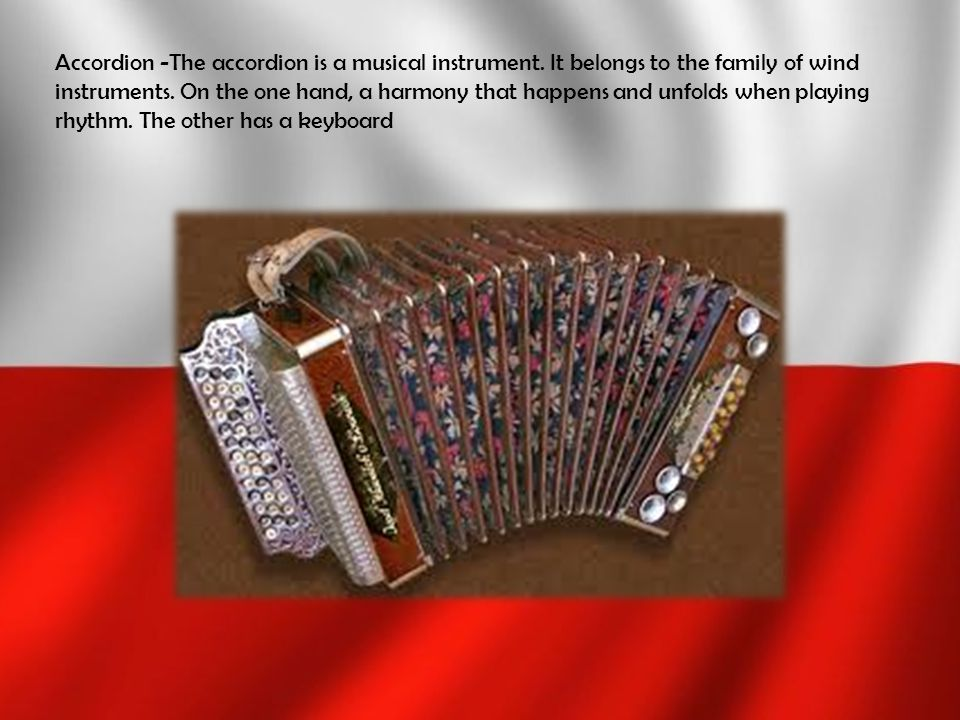 Accordion -The accordion is a musical instrument