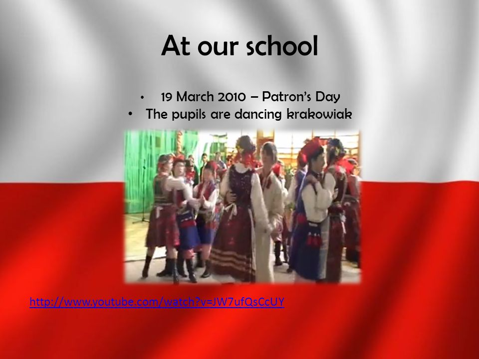 The pupils are dancing krakowiak