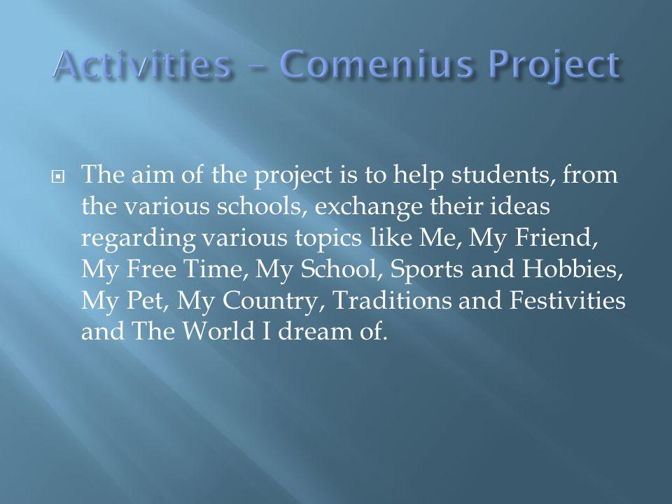 Activities – Comenius Project