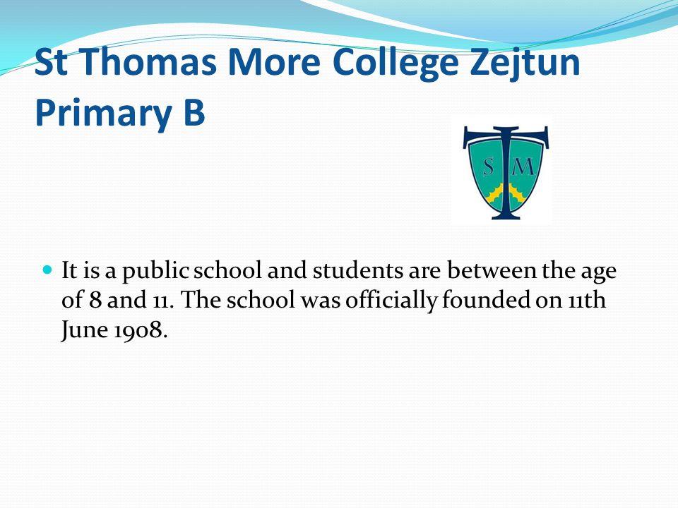 St Thomas More College Zejtun Primary B