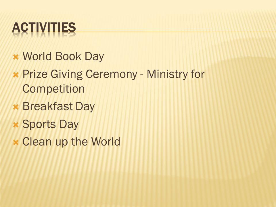 ACTIVITIES World Book Day