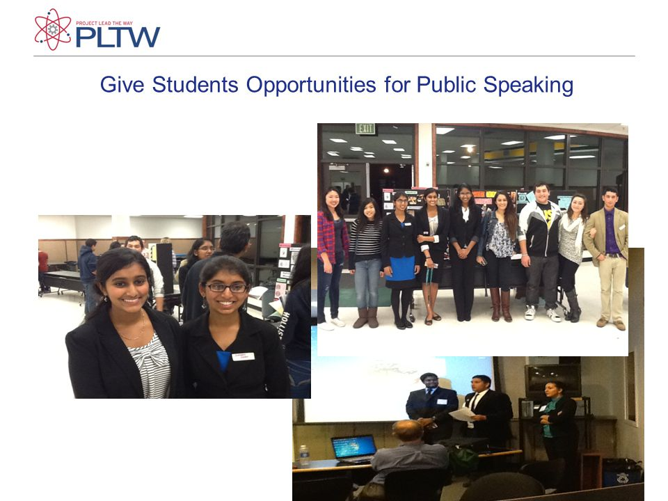 Give Students Opportunities for Public Speaking