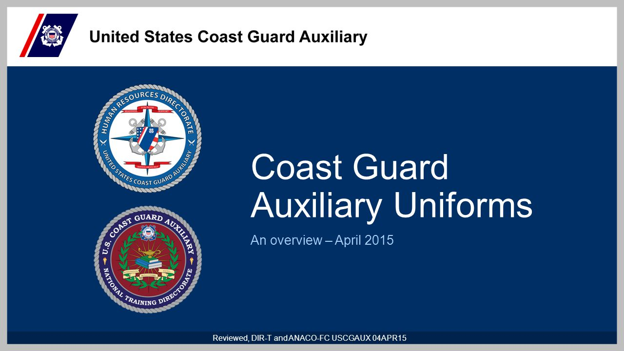 Coast Guard Auxiliary Uniforms