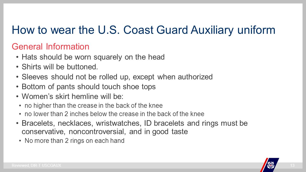How to wear the U.S. Coast Guard Auxiliary uniform