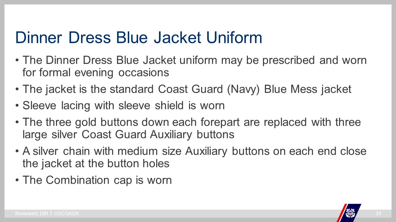 Dinner Dress Blue Jacket Uniform