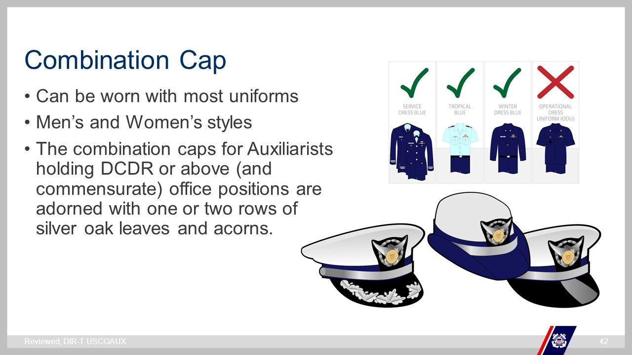 Combination Cap Can be worn with most uniforms