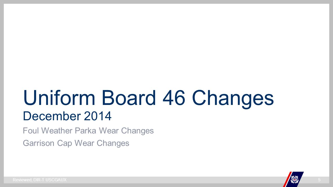 Uniform Board 46 Changes December 2014