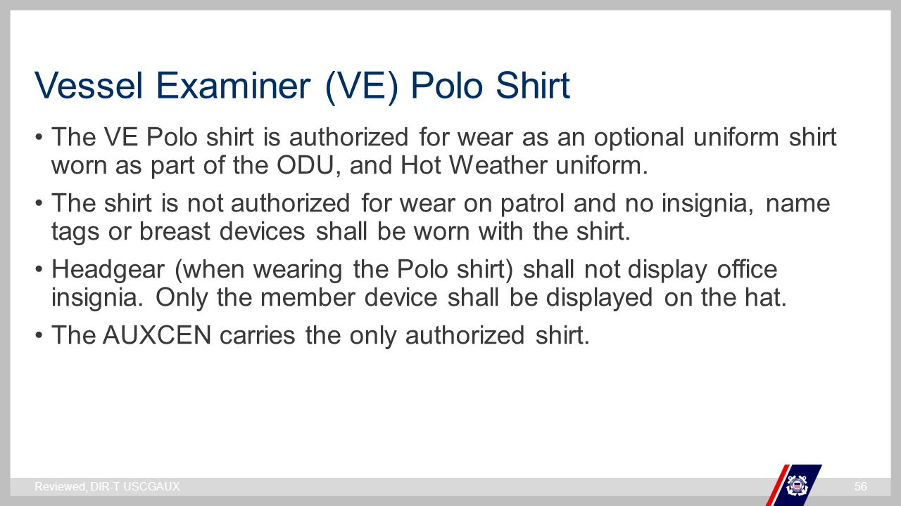 Vessel Examiner (VE) Polo Shirt