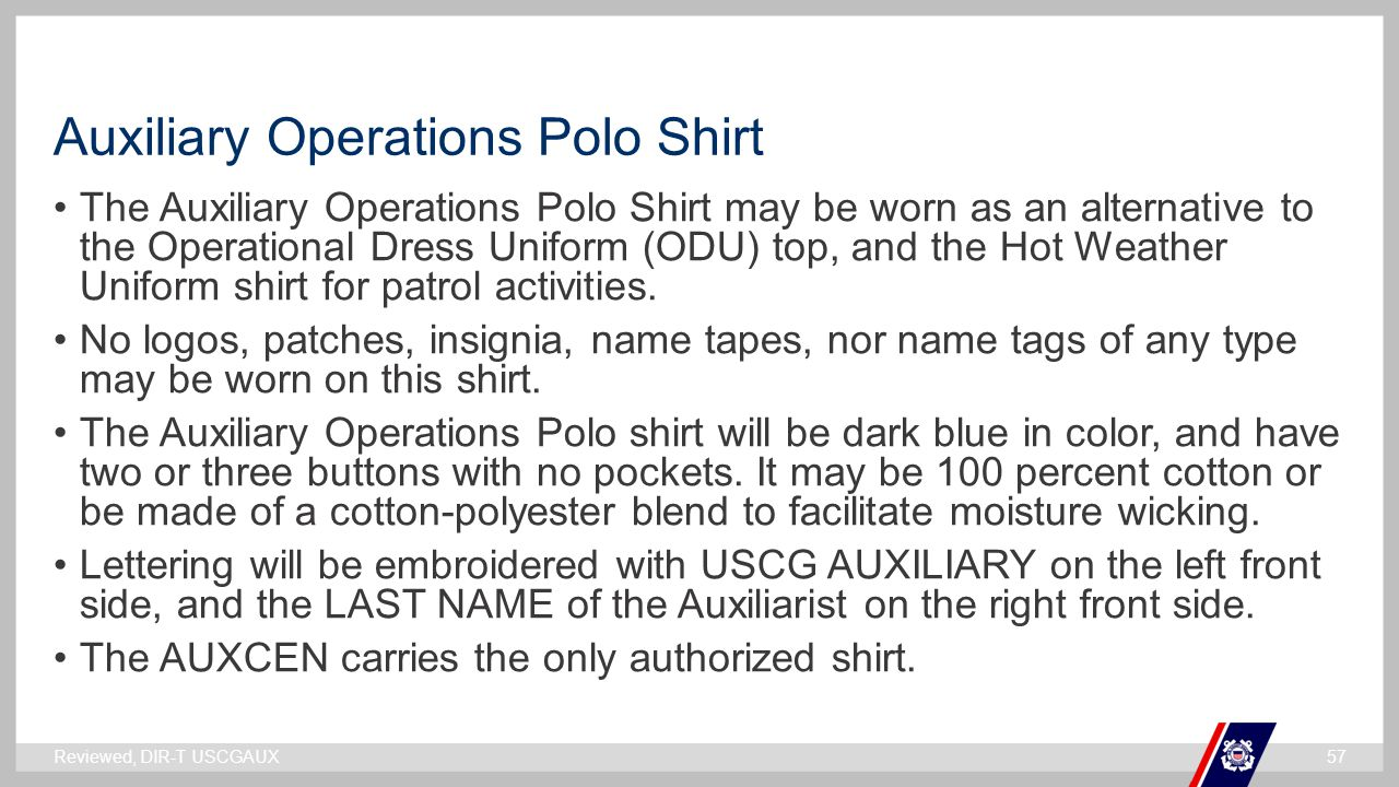Auxiliary Operations Polo Shirt