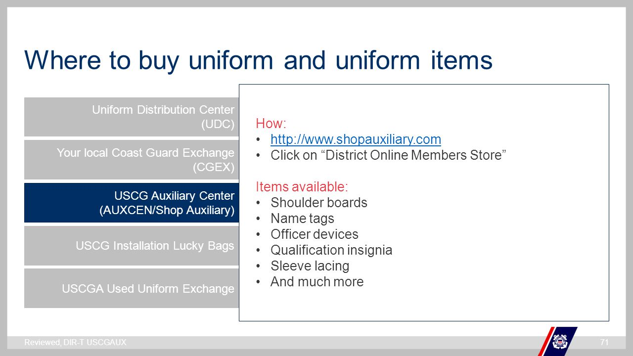Where to buy uniform and uniform items