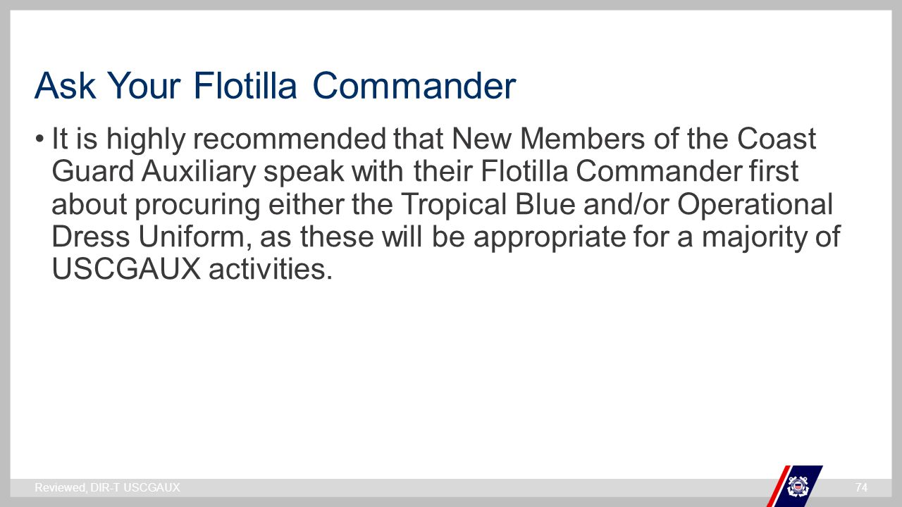 Ask Your Flotilla Commander