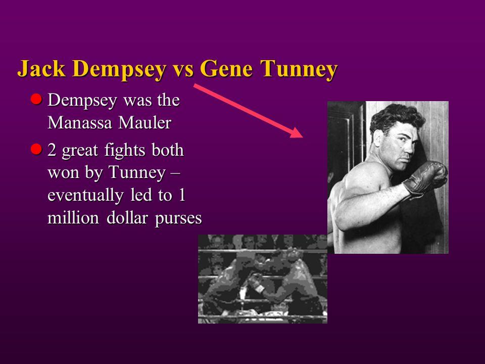 Jack Dempsey vs Gene Tunney