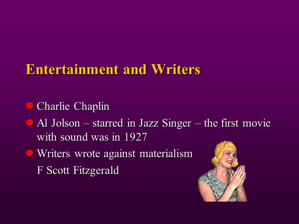 Entertainment and Writers