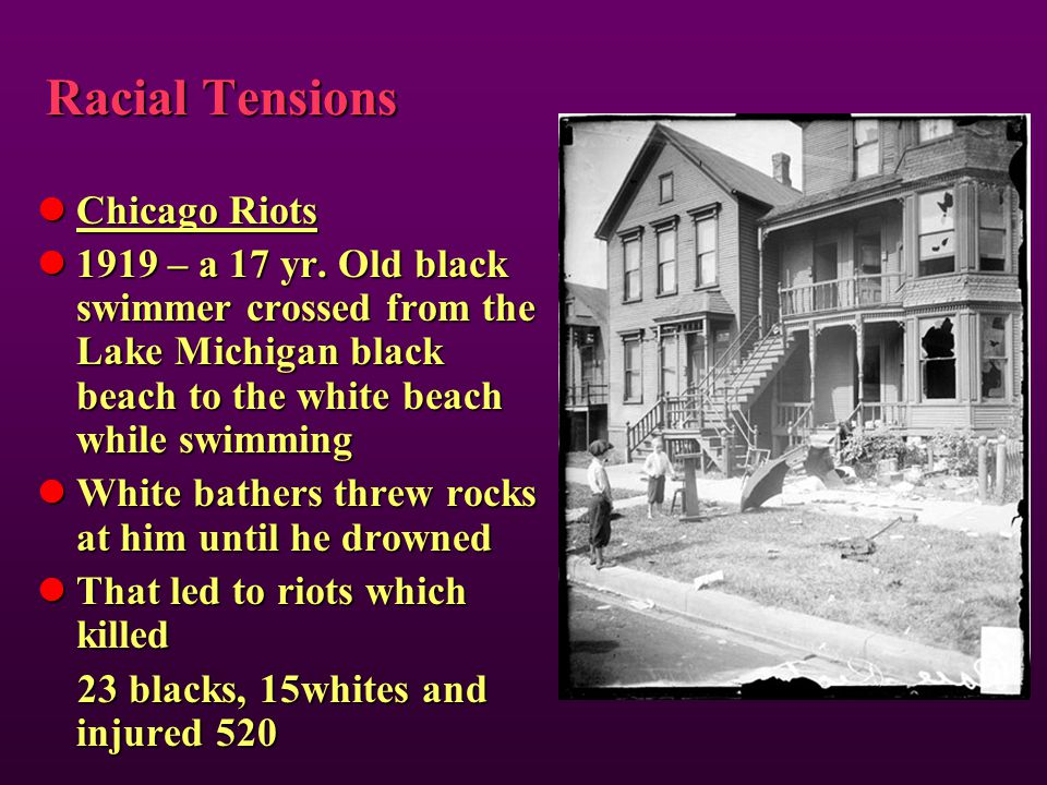 Racial Tensions Chicago Riots