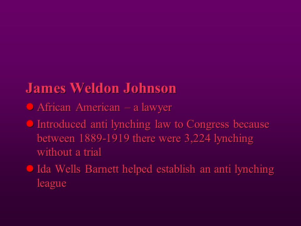 James Weldon Johnson African American – a lawyer