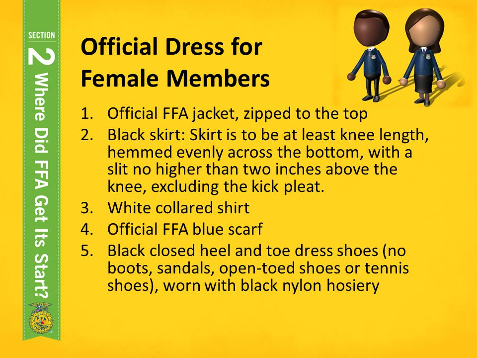 Official Dress for Female Members
