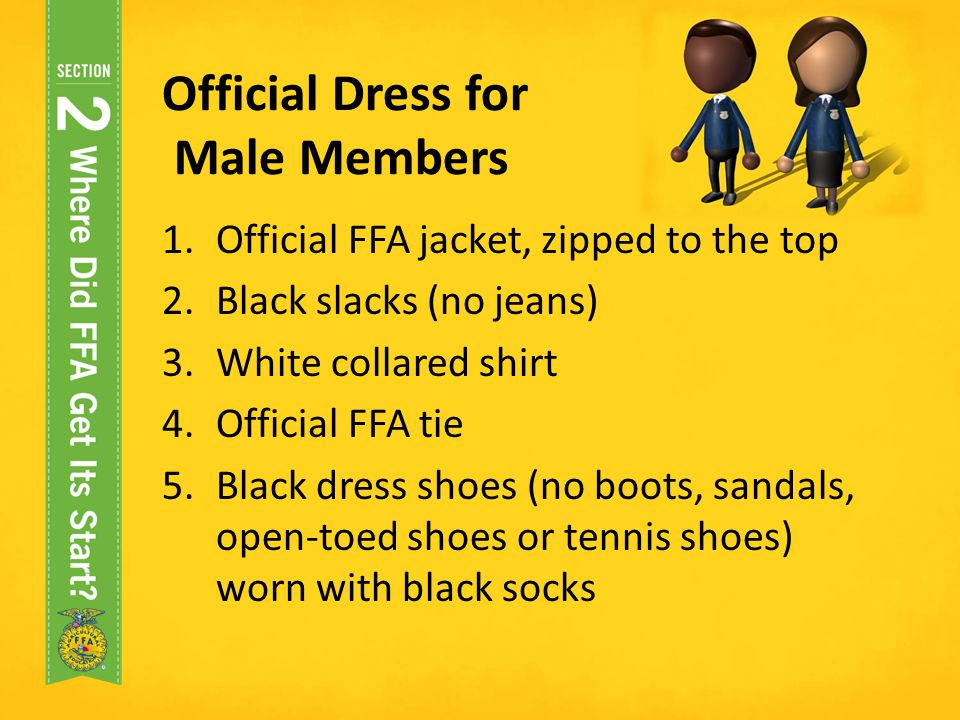 Official Dress for Male Members