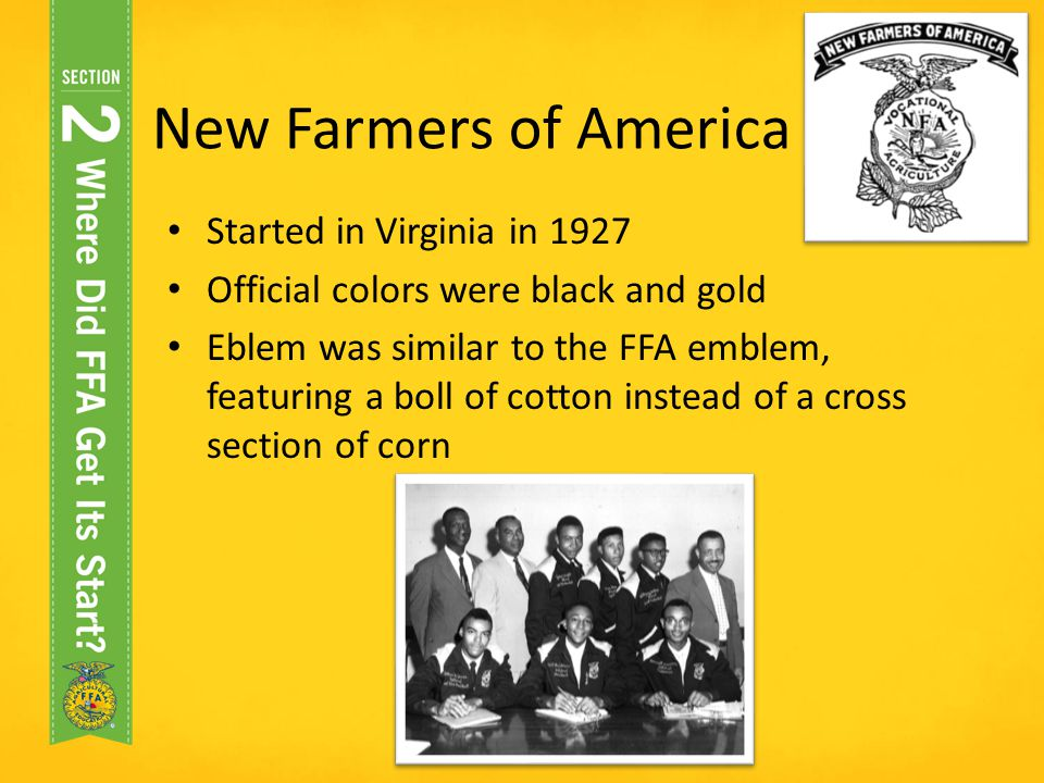 New Farmers of America Started in Virginia in 1927