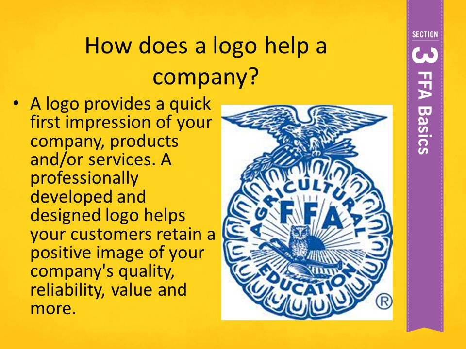 How does a logo help a company