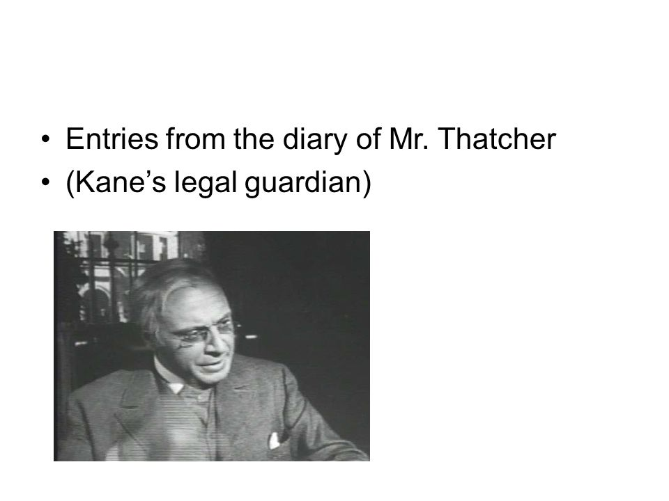 Entries from the diary of Mr. Thatcher