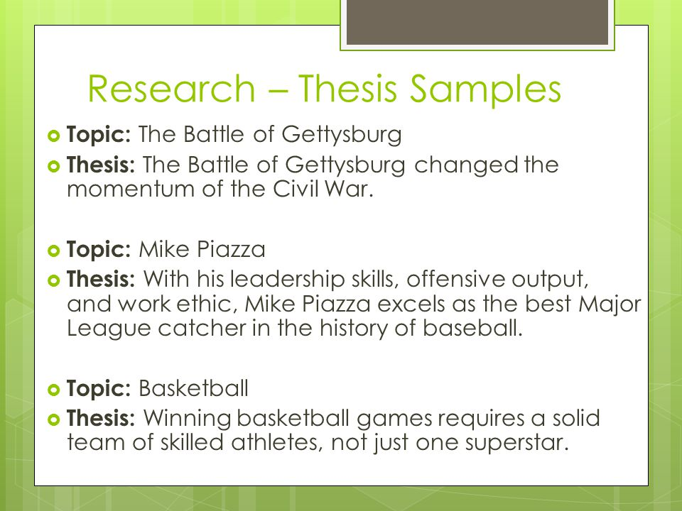 Research – Thesis Samples