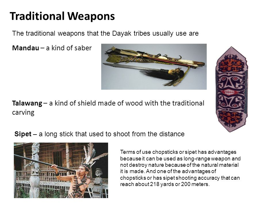 Traditional Weapons Mandau – a kind of saber