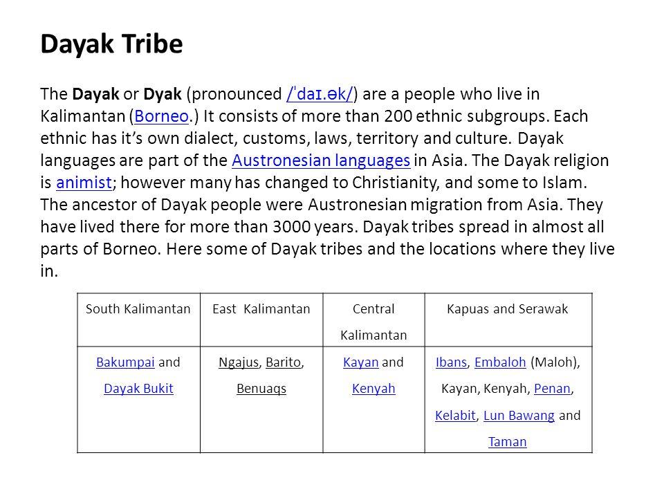 Bakumpai and Dayak Bukit