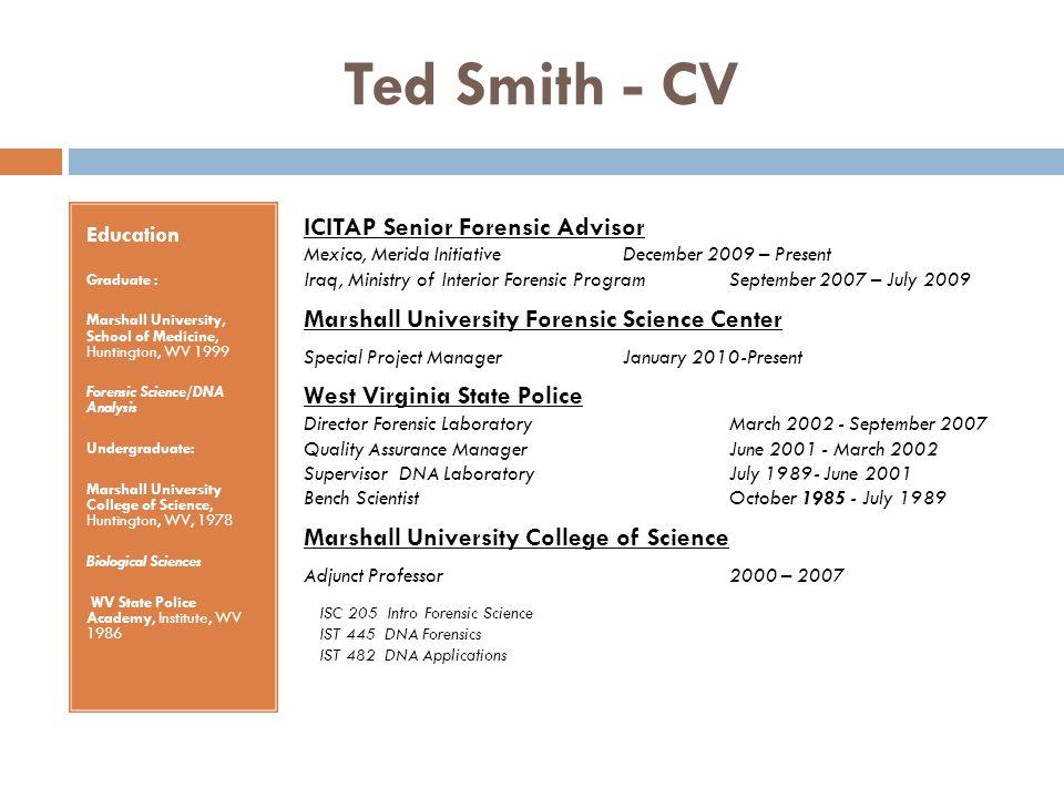 Ted Smith - CV ICITAP Senior Forensic Advisor