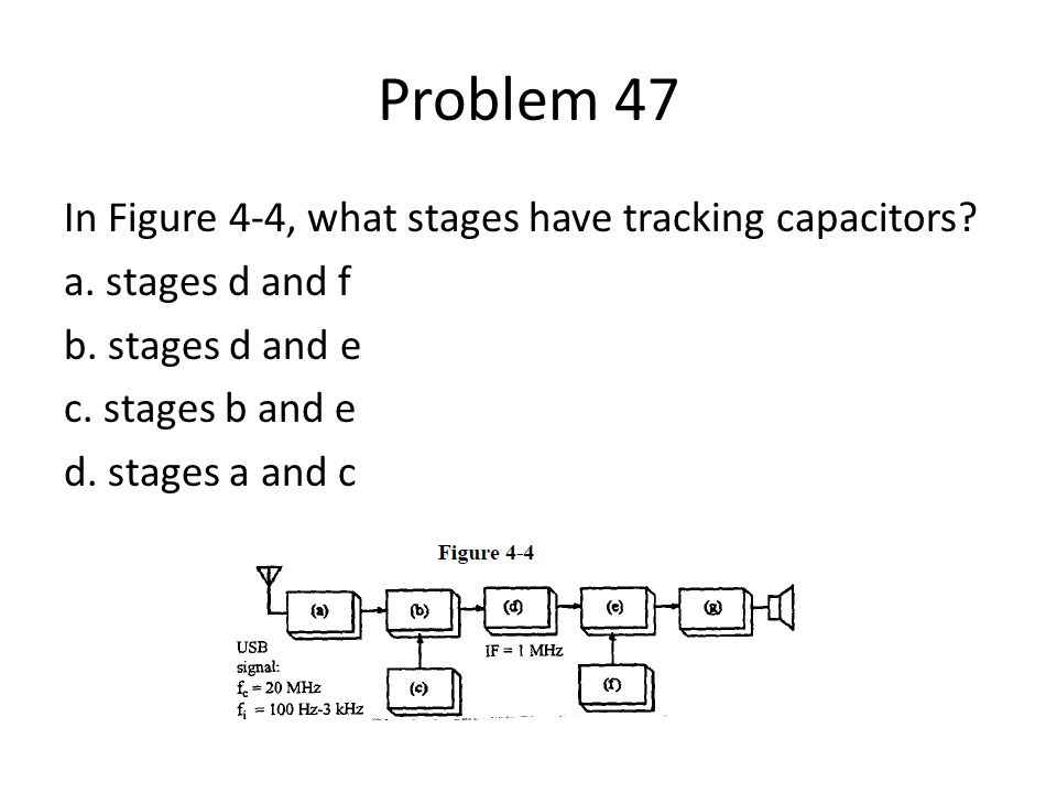Problem 47 In Figure 4-4, what stages have tracking capacitors.