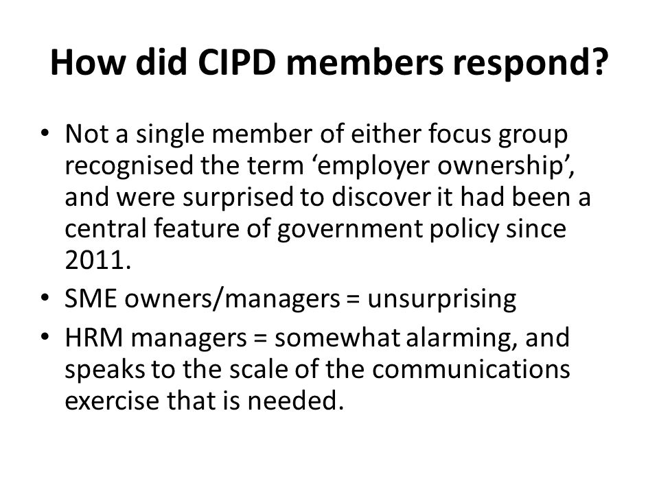 How did CIPD members respond