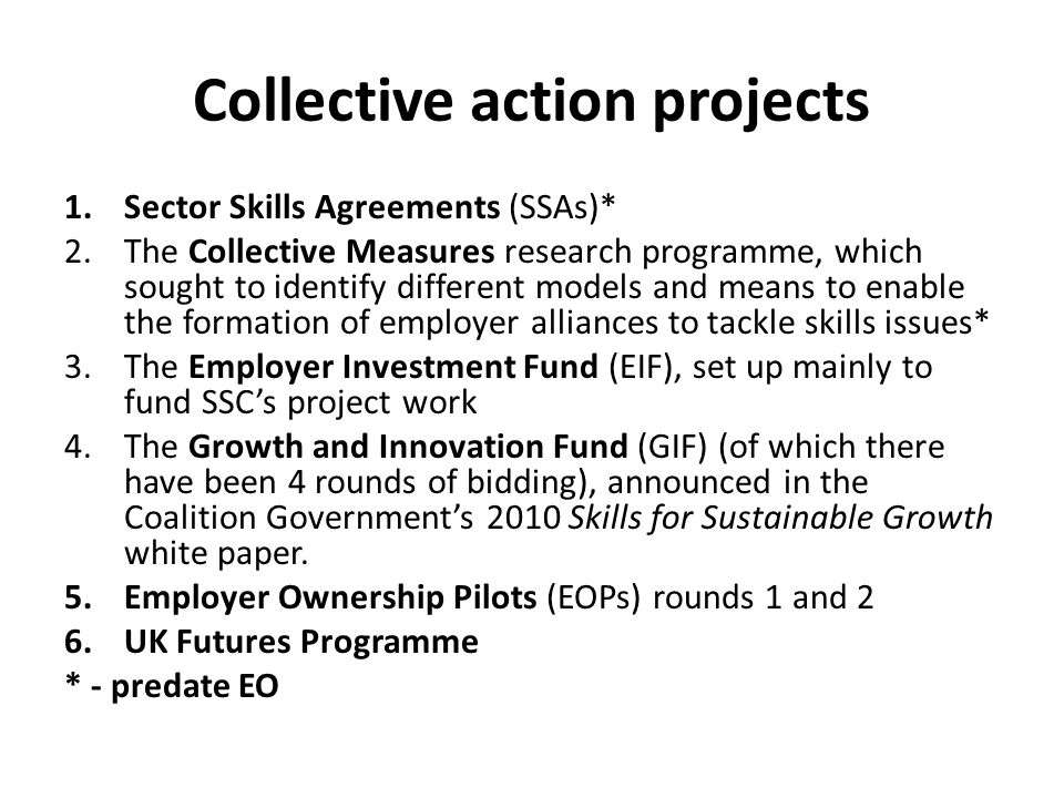 Collective action projects