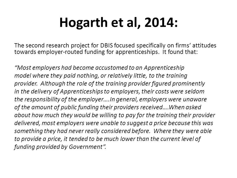 Hogarth et al, 2014: