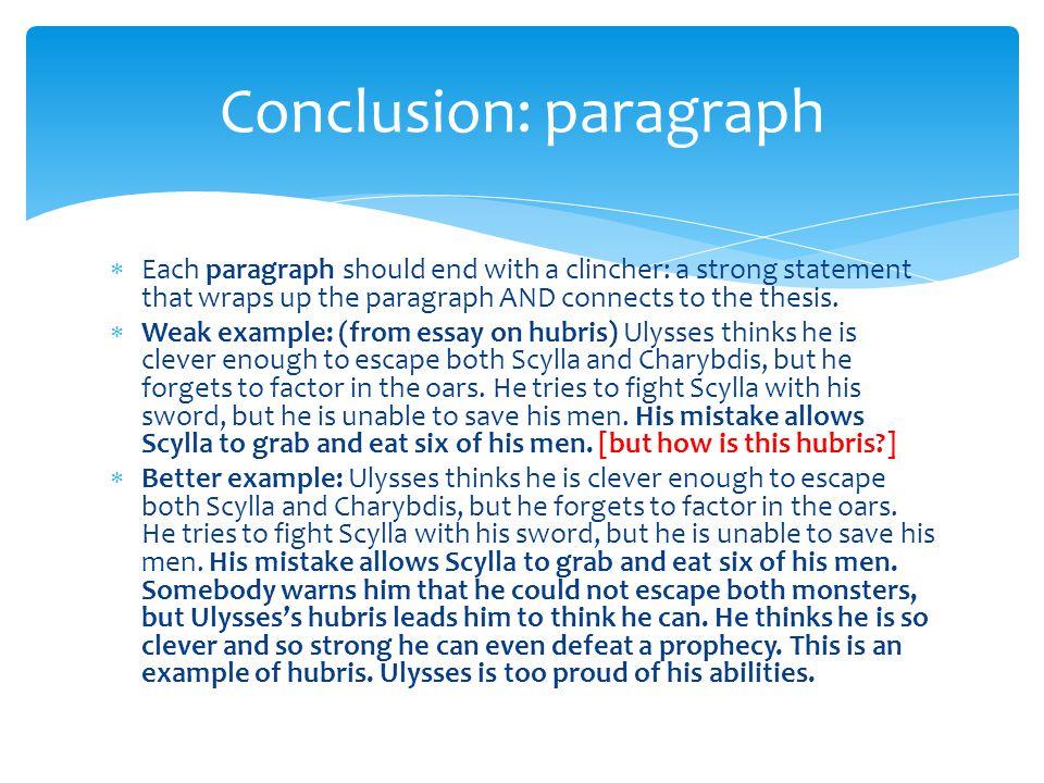 Conclusion: paragraph
