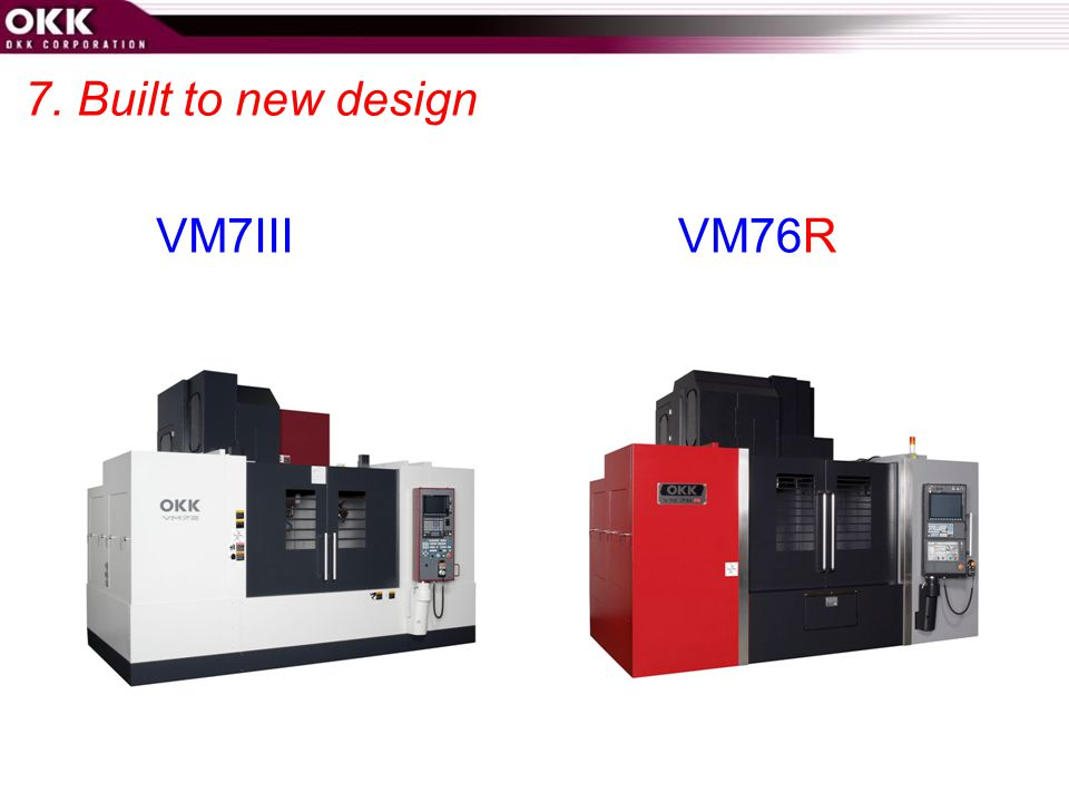 7. Built to new design VM7III VM76R