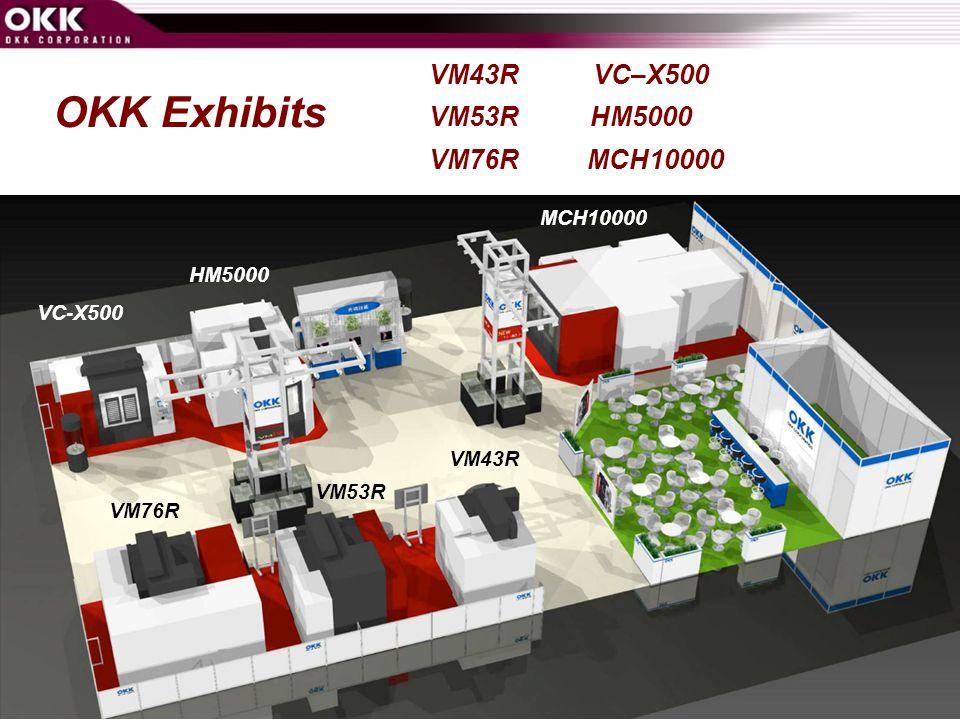 OKK Exhibits VM43R VC–X500 VM53R HM5000 VM76R MCH10000 MCH10000 HM5000