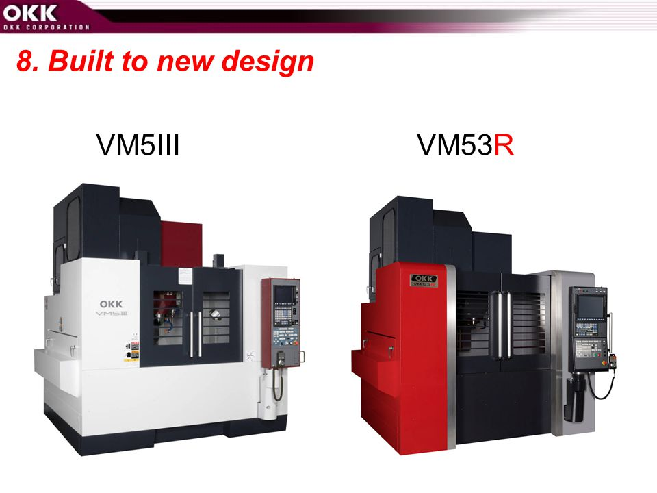 8. Built to new design VM5III VM53R