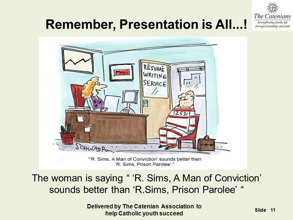 Remember, Presentation is All...!