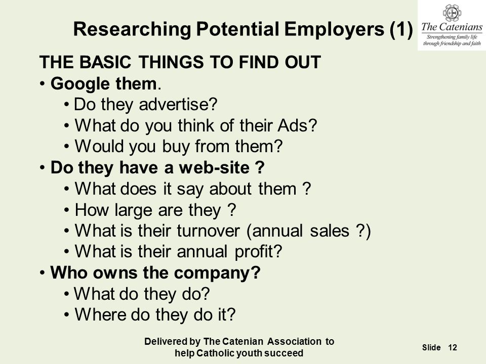 Researching Potential Employers (1)