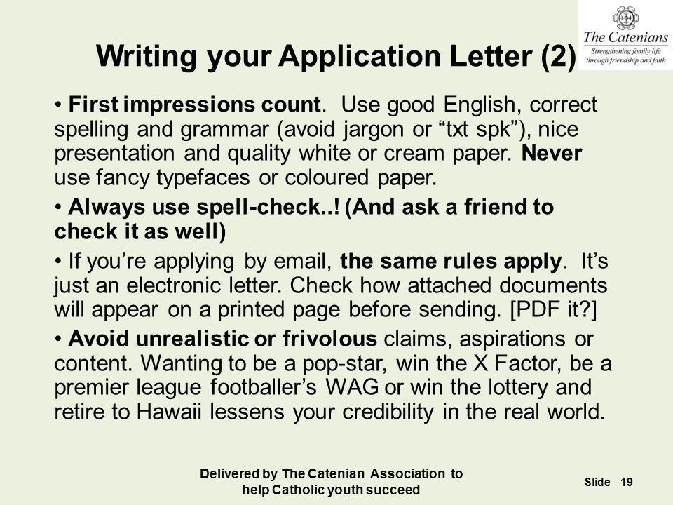 Writing your Application Letter (2)