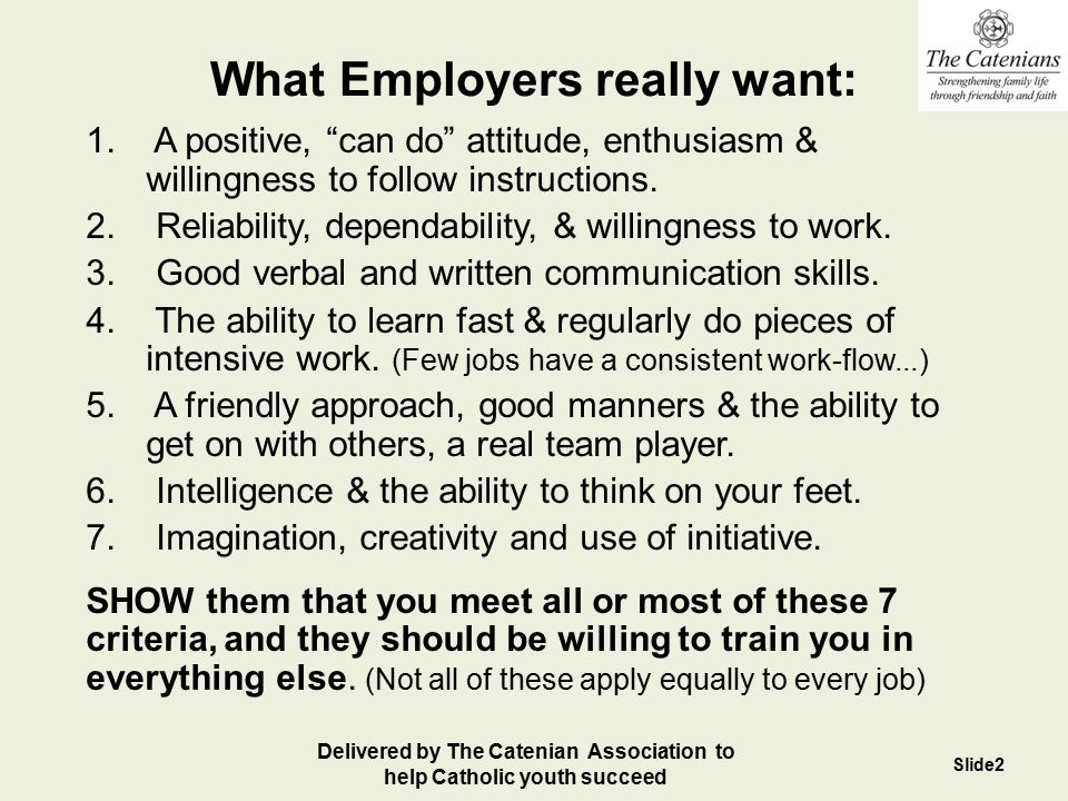 What Employers really want: