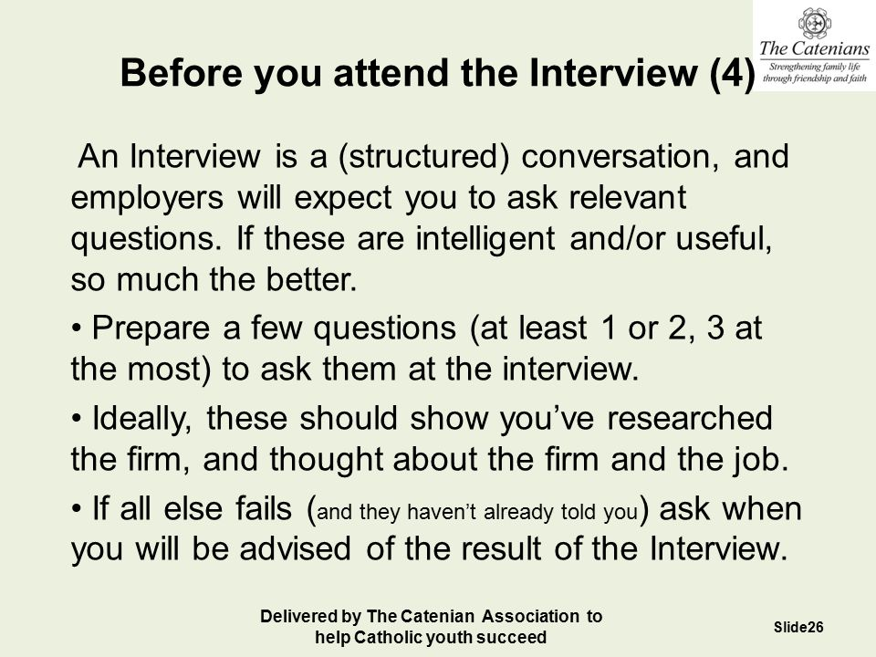 Before you attend the Interview (4)