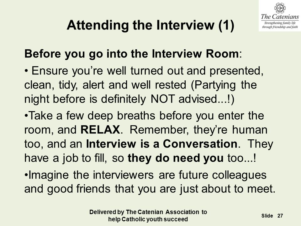 Attending the Interview (1)