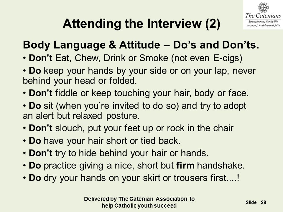 Attending the Interview (2)
