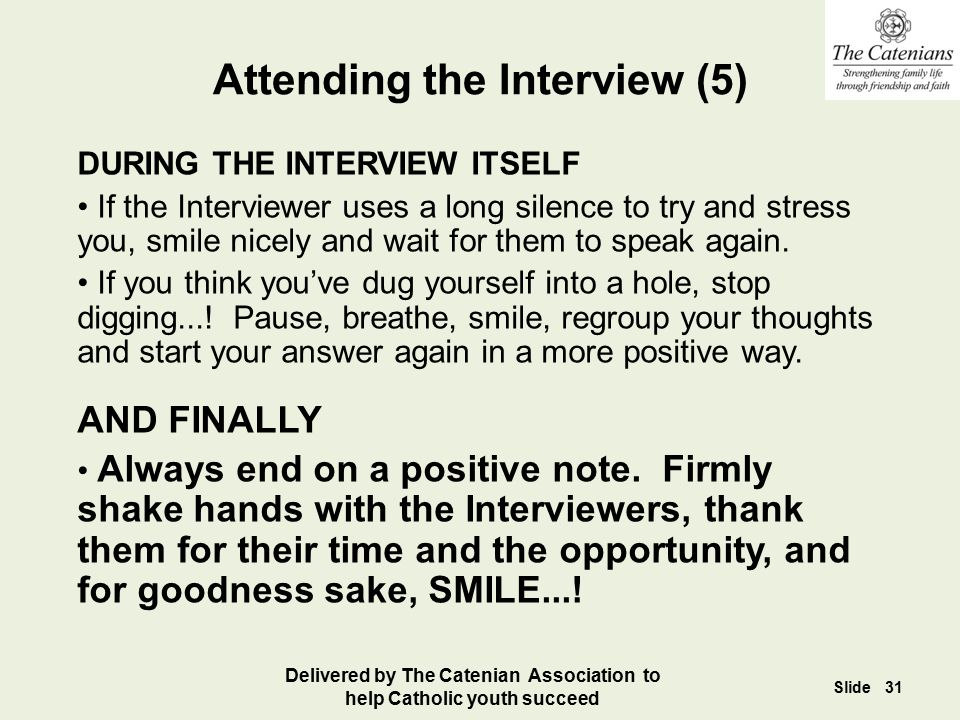 Attending the Interview (5)