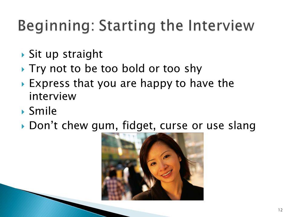 Beginning: Starting the Interview
