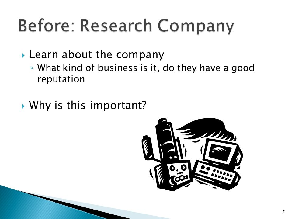 Before: Research Company