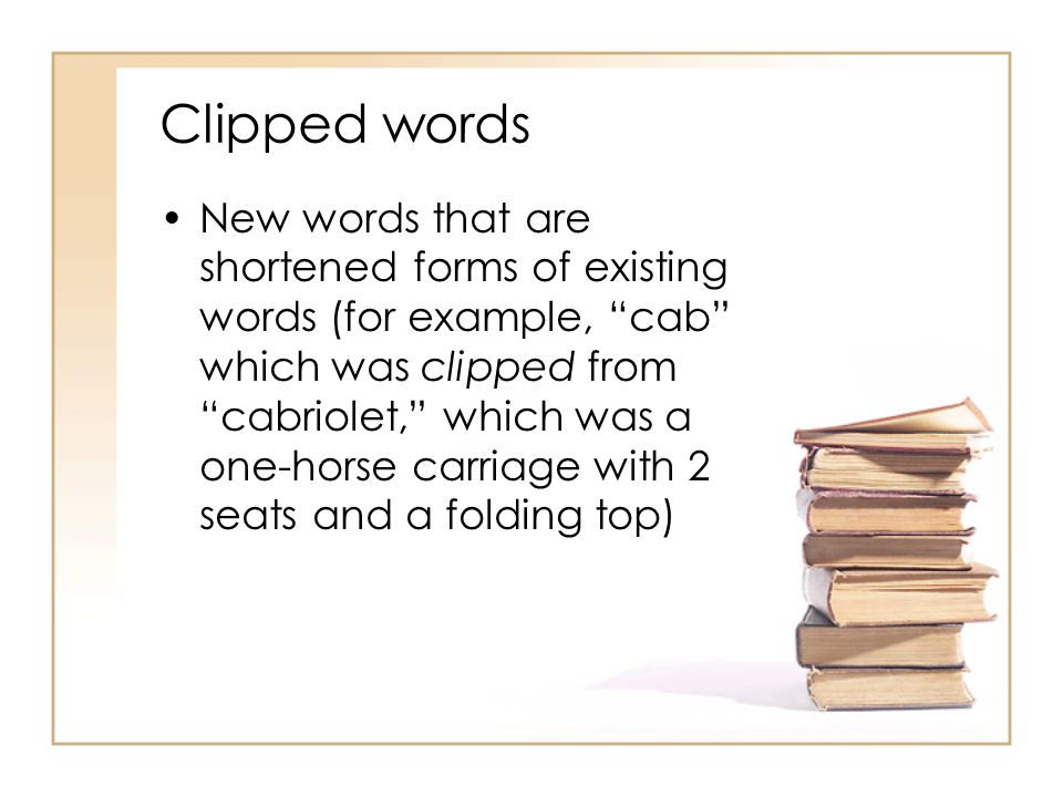 Clipped words
