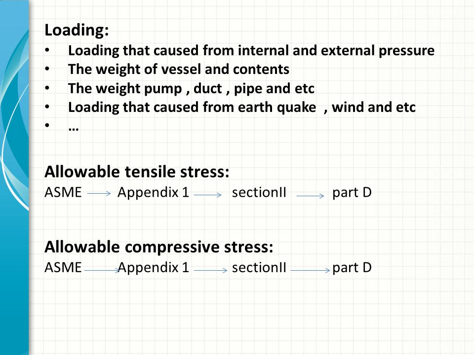 Allowable tensile stress: