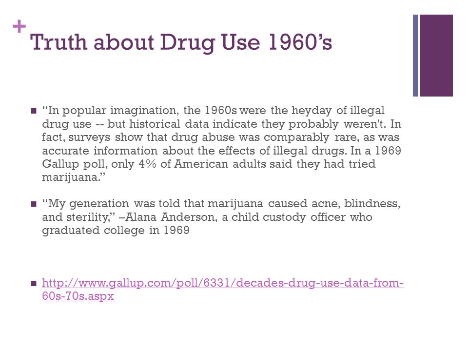 Truth about Drug Use 1960's